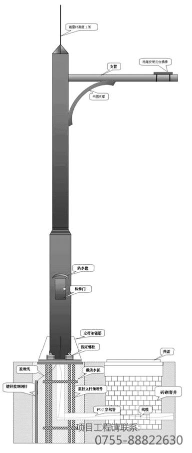 监控立杆的安装要点以及地笼防雷接地的常识